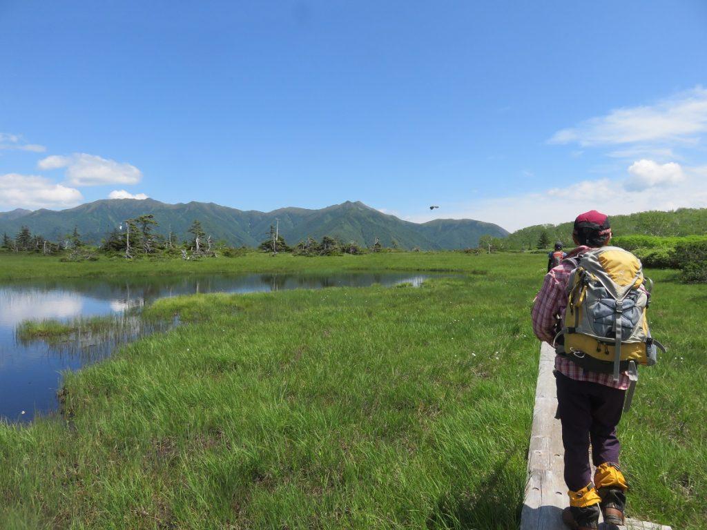 ひぐま大学 第3講座 沼の原08帰路は東大雪の山々を眺めながら 2020-07-19