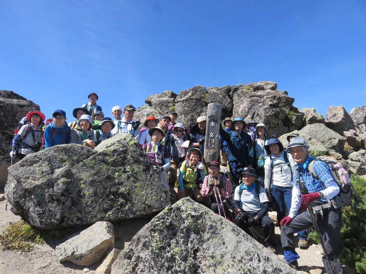 2020年8月23日 第4講座 赤岳・北海岳・黒岳